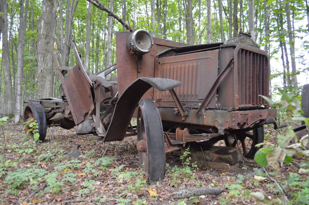 """One of several pieces of rust along """"Antique Alley"""" where old cars and farming equipment have been put to rest. Photo by Chris Engle"""