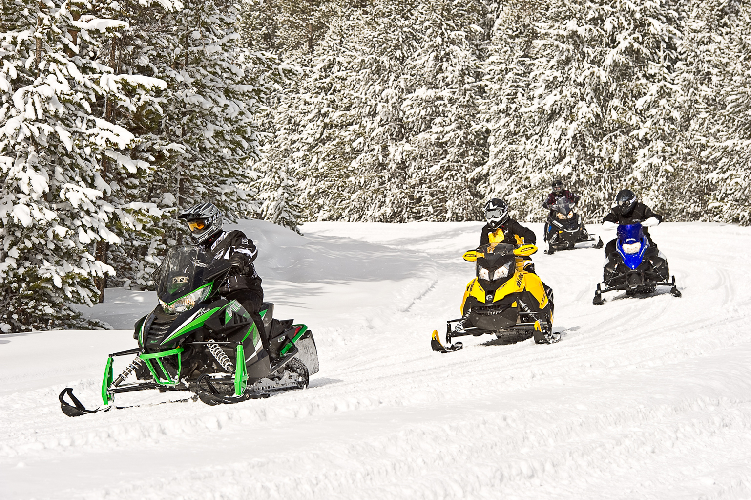 Snowmobile Gaylord Michigan