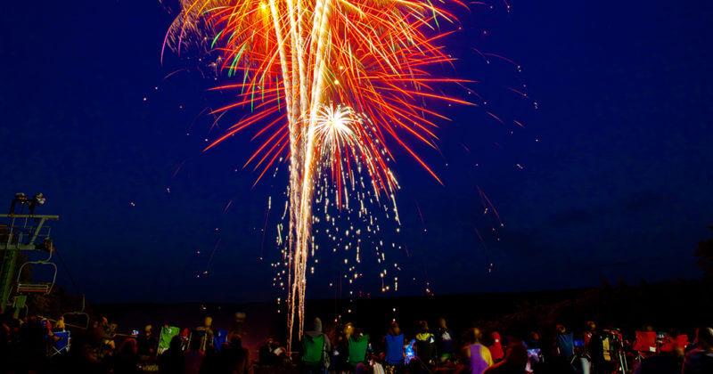 Fireworks over Treetops Resort