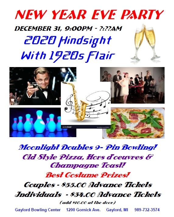 2020 Hindsight With 1920s Flair Nye At The Gaylord Bowling Center